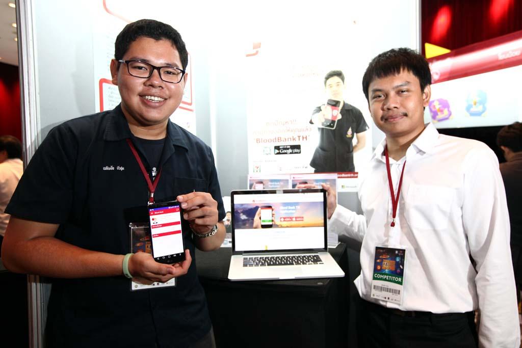ชูวงศ์ สีตะพงศ์ และเฉลิมชัย บัวชุม นักศึกษาคณะวิศวกรรมศาสตร์ มหาวิทยาลัยสงขลานครินทร์