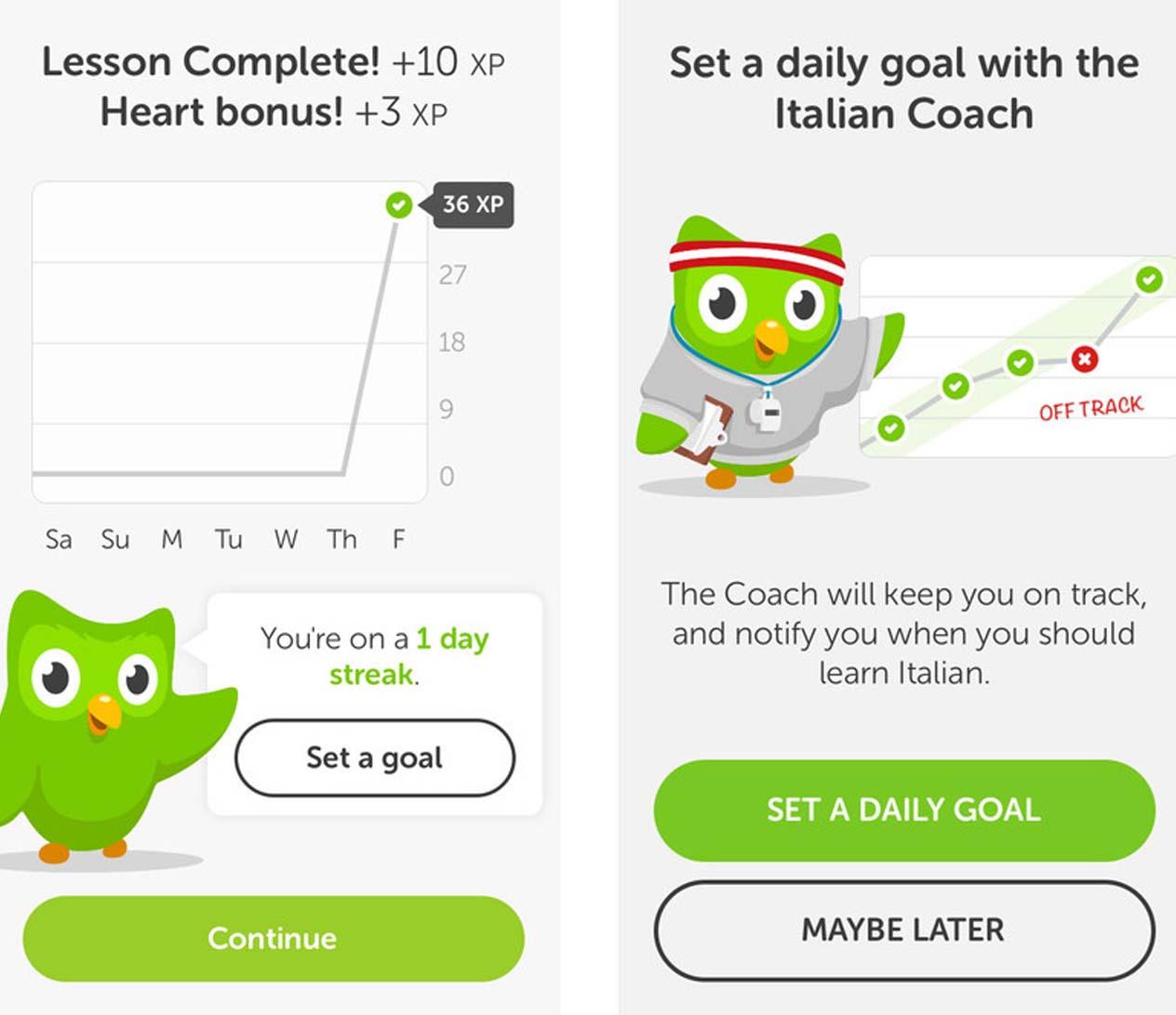Duolingo เป็นการเรียนแบบ Massive Online Open Courses ให้เรียนร่วมกัน หรือแปลศัพท์ต่างๆ และดำเนินการผ่านไปทีละด่าน