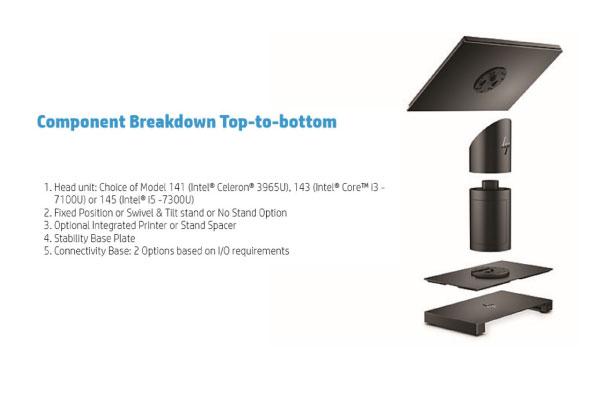 HP ปล่อยผลิตภัณฑ์รุ่น Elite POS G1 Retail มีทั้งแบบติดตั้ง และถอดได้