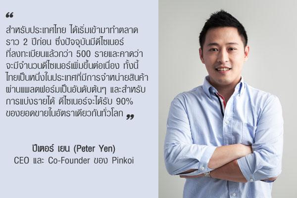 ปีเตอร์ เยน (Peter Yen) CEO และ Co-Founder ของ Pinkoi
