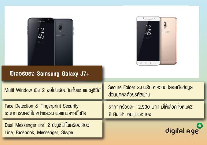 ฟีเจอร์ของ Samsung Galaxy J7+